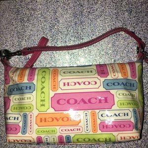 Off-white Plastic Baguette/Cosmetic Coach Handbag